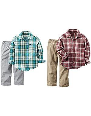 Carter's Baby Boys Button shirt pants Double Set