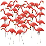 26'' Pink Flamingo Resin Garden Statues Lawn Ornament Retro Decor (24-Pack)