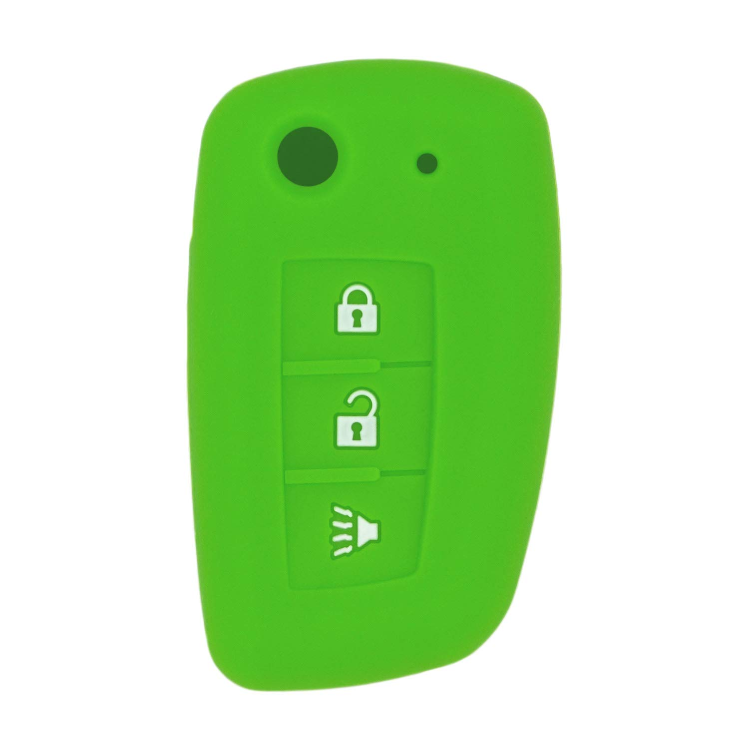 QualityKeylessPlus Protective Silicone Rubber Keyless Entry Remote Fob Case Skin Cover for select 4 Button Nissan Remotes FCC ID CWTWB1G767