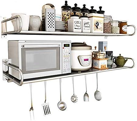 Horno de microondas Rejilla Cocina de Pared 304 Acero ...