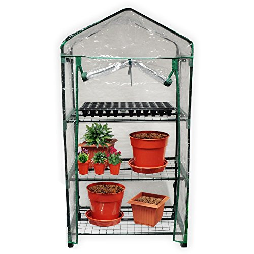 Kingfisher GH3T 3 Tier Greenhouse on Wheels – Multi-Colour