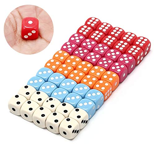 Fishing-Accessories - 5 colors s 14mm 10pcs/set acrylic colorful d6 dice,6 sided gambling small dice for sale,white,red,pink,orange, blue