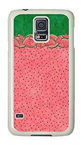 VUTTOO Rugged Samsung Galaxy S5 Case, Cute Watermelon Polycarbonate Plastic Case Back Cover for Samsung Galaxy S5 I9600 PC White