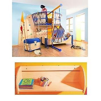 Bett Piratenkogge - Wandregal groß: Amazon.de: Baby
