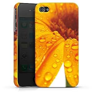 Carcasa Design Funda para Apple iPhone 4 / 4S PremiumCase white - Flower Drops