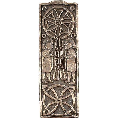 - Wild Goose Studio Journey Cross Bronze Coated Resin Plaque Pre-Drilled Made in Ireland