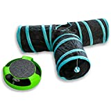 AroPaw Interactive Cat Toy Bundle- Includes Two Premium Cat Toys-Three Way Cat Tunnel- Running Mouse Catnip Toy With Scratchpad- Suitable For Cats And Kittens