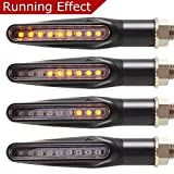 #7: Goodway Universal Motorcycle Flowing LED Turn Signals Indicators 2 Pcs Waterproof 12V Sequential Running Effect Blinker
