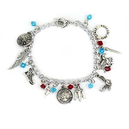 Percy Jackson 10 Charms Toggle Clasp Bracelet in Gift Box by Superheroes by Super-Heroes