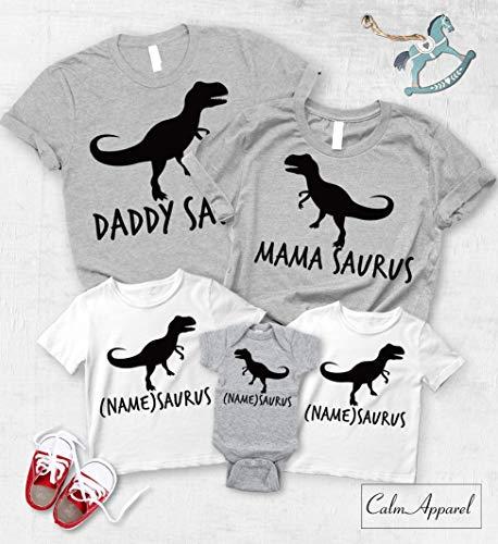 Dinosaur Matching Family Shirts, Dino Birthday Trex T-Shirts for Kids, Women's Racer Back Tops]()