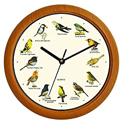 Benail Singing Bird Wall Clock 12 Inch