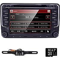 HIZPO Double 2 Din 7 Inch Size Car Stereo DVD GPS Nav Radio for VW Passat t5 Golf MK5 Jetta+ Camera