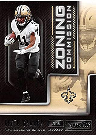 8fafb7d11 2018 Playbook Zoning Commission Football  18 Alvin Kamara New Orleans Saints  Official NFL Card Produced