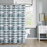 """Intelligent Design ID70-781 Emmett 100Percent Microfiber Printed Shower Curtain 72x72"""" Blue,72x72"""""""