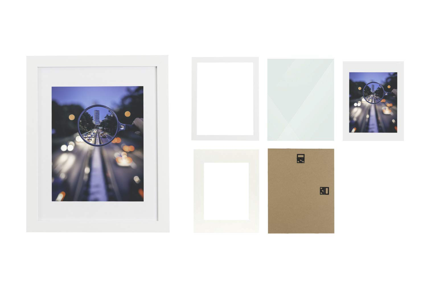 11 by 14 or 8 by 10 Matted Real Wood Frame Wall Mounting Ready 11x14 Photo Frame 8x10 Picture Frame with Mat or 11x14 Picture Frame Without Mat iDecorlife Premium 11x14 White Picture Frame 1PC