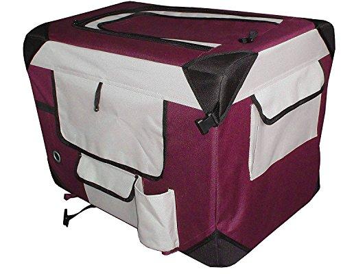 Petzip Pet Soft Crate, Burgundy Review