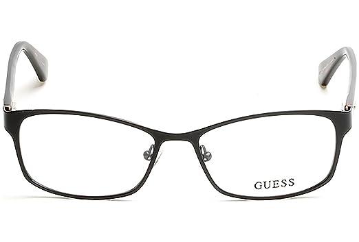 9f0bfa5afe Amazon.com  Guess GU 2521 002 Matte Black Metal Cat-Eye Eyeglasses ...
