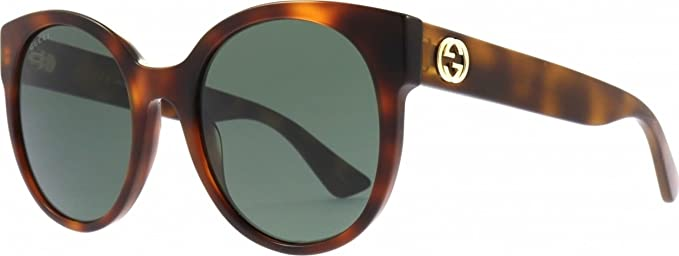 c30d82512d Image Unavailable. Image not available for. Color  Gucci GG0035S 011 Havana  GG0035S Round Sunglasses Lens ...