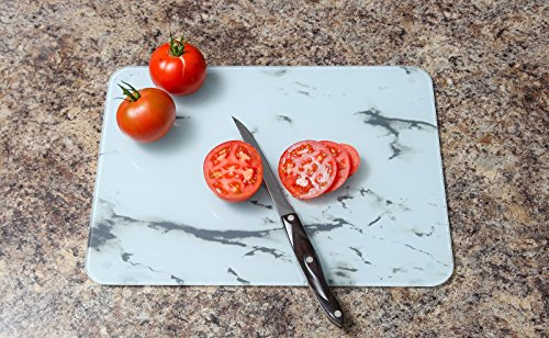 Trenton Gifts Glass Marble Board in White