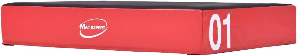 COSTWAY Caja de Salto con Velcro Suave Plataforma Pliométrica 90x75x15cm Jump Box para Entrenamiento Gimnasia Fitness (Rojo): Amazon.es: Deportes y aire libre