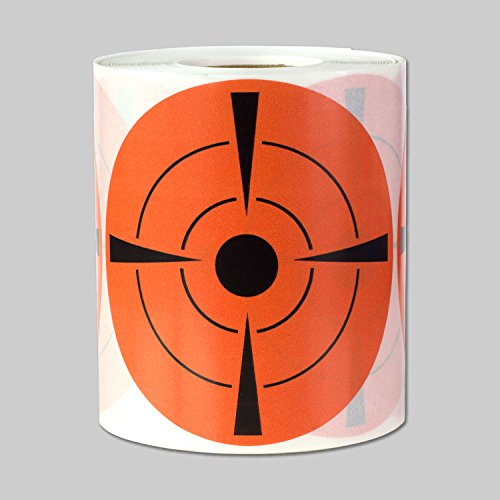 Target Pasters Round Adhesive Shooting Target Labels Self Adhesive Circle Stickers (Orange Black / 3 in) - 300 labels per package ()