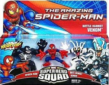Marvel Super Hero Squad - Juego de 3 muñecos (Spiderman, Venom y Anti Venom