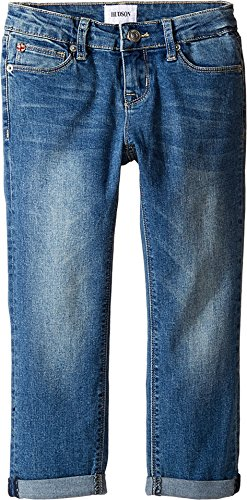 Hudson Kids Girl's Jax Roll Crop Five-Pocket Skinny in Light Indigo (Big Kids) Light Indigo Pants (Roll Crop Pant Waist)