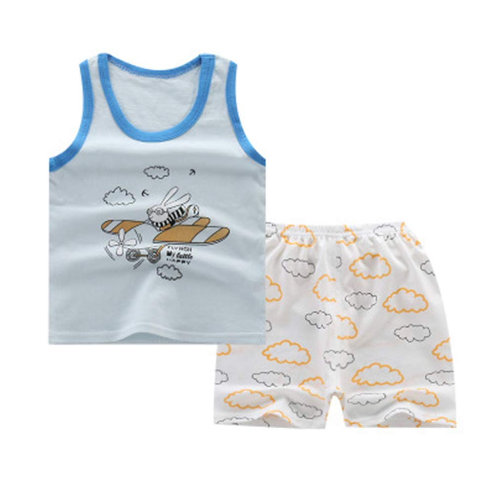 Mumeiduo Baby Boy Summer Clothing Set Sleeveless Top Short Pants Clothes Outfits Set