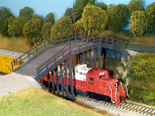 Timber Ho Scale (Rix Products HO RURAL TIMBER OVERPASS EZ Assembly Detailed Item 6280200)