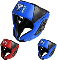 RDX Kids Headgear for Boxing, MMA Training and Kickboxing, Approved by SATRA, Junior Maya Hide Leather Head Gu