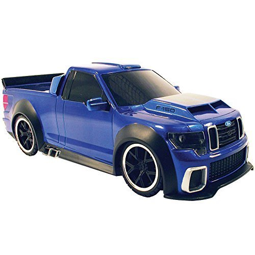 Suped-Up Remote Controlled Cobalt Blue Ford F-150 Pick Up Truck Racing Car