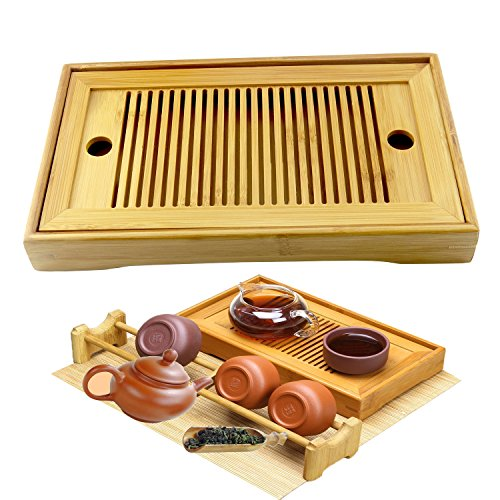 Hanperal Portble Small Chinese Gongfu Tea Bamboo Tea Tray