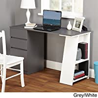 Simple Living Como Modern Writing Desk (Grey/White)