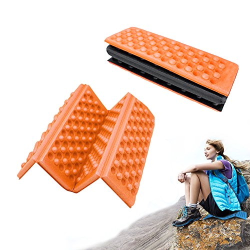 Camping Foam Pad , Waterproof Outdoor Travel Exercise Folding Compact Sleeping Mat , Lightweight Portable Comfort Seat Floor Yoga Cushion , For Pinic , Hiking , Backpacking , Mountaineering , (Tri Fold Seat Cushion)