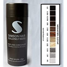 LIGHT BROWN Samson Best Hair Loss Concealer Building Fibers CONTAINER With 25grams FREE SHIPPING USA Also Fits Toppik Xfusion Spray Applicators