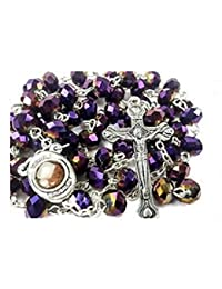 Assorted Collection of Holy Land Glass and Wood Rosaries Jerusalem Soil Holy Water by Bethlehem Gifts TM