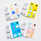 Lovely Cute Cartoon Geometry Sticky Notes Message Plan Writing Memo Pads Sticker DIY Craft Decor Stick Label