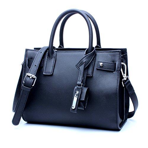 Women's Tote Bag Contrast Bag Fashion Shoulder Messenger Bag Fashion (color   Black, Size   M)