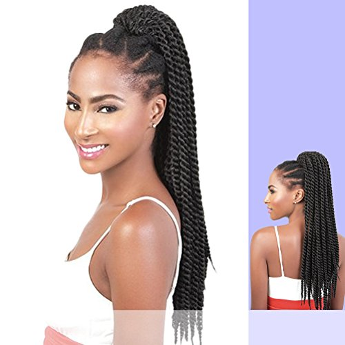 PD-BRAID (Motown Tress) - Synthetic Ponytail in DARKEST BROWN (Braid In Ponytail)