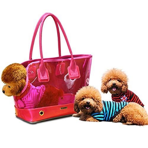 (Pet Purse Carrier, Cat Dog Travel Tote Shoulder Bag with Waterproof for Cat and Small Dog,Red)