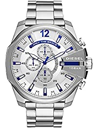 Men's 'Mega Chief' Quartz Stainless Steel Casual Watch, Color:Silver-Toned (Model: DZ4477)