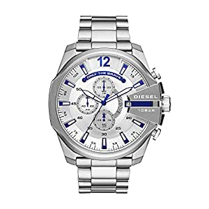 Diesel Men's 'Mega Chief' Quartz Stainless Steel Casual Watch, Color:Silver-Toned (Model: DZ4477)