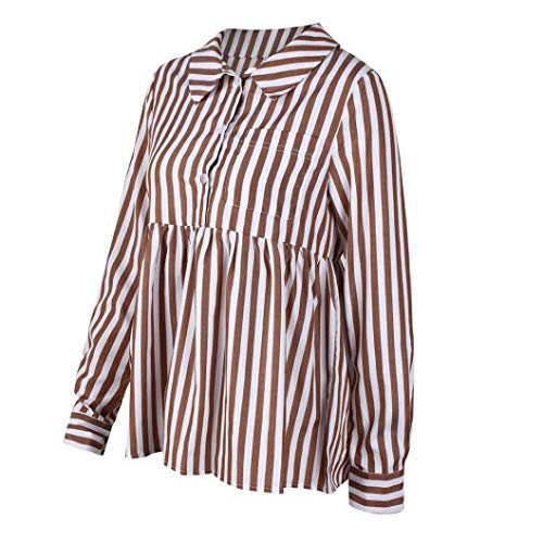 Ray T Chemisier Manches Shirt Innerternet Automne Top Caf Mode Longues Femmes Blouse Dcontract aIxqAf0