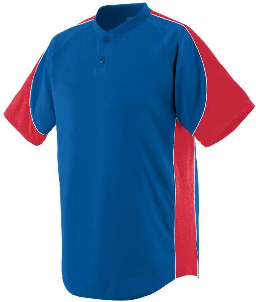 Augusta Sportswear Boys ' Blast Baseball Jersey B00E1YTI36 L ロイヤル/レッド/ホワイト ロイヤル/レッド/ホワイト L