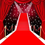 5X7FT Red carpet curtain Hollywood celebrity backdrop High-grade portrait cloth Computer printed wedding photography studio background MR-1983