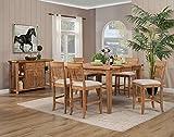 Alpine Furniture Aspen 5 Piece Counter Height Pub Set