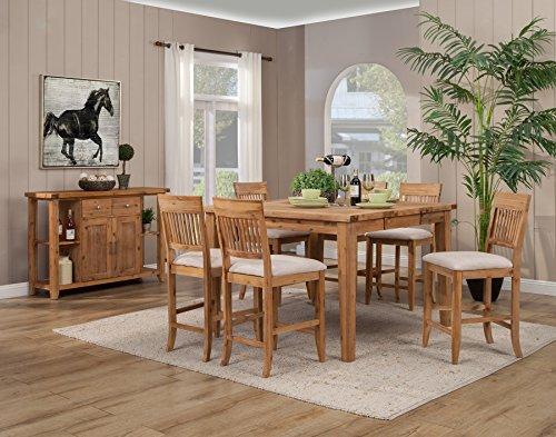 Butterfly Pub Table (Alpine Furniture 8812-03-04-04 5 Piece Aspen Extension Pub Table Set, Iron Brush Antique Natural)