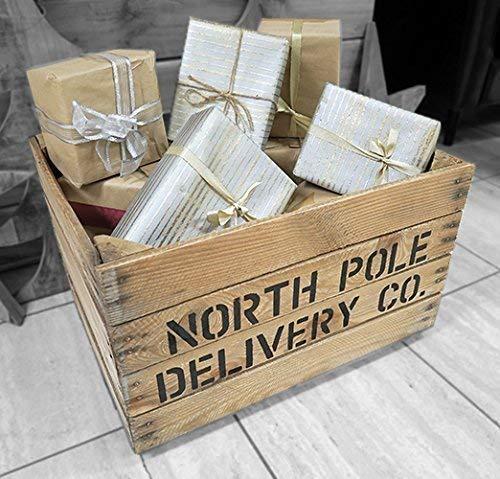 Christmas Crate Box.Flash Sale Christmas Eve Box Vintage Apple Crate