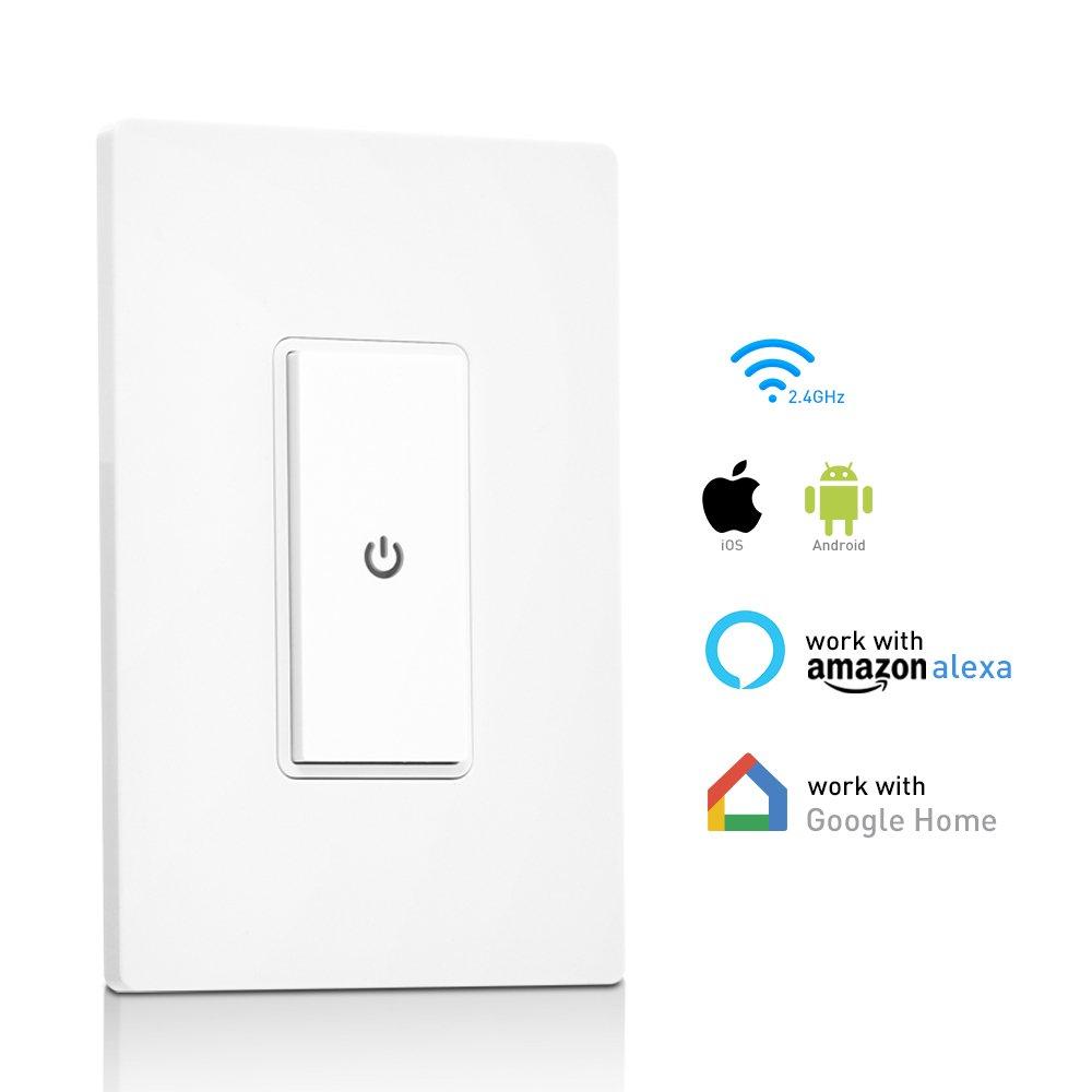 Amazon.com: Ankuoo REC Wi-Fi Light Switch with Push Notification ...