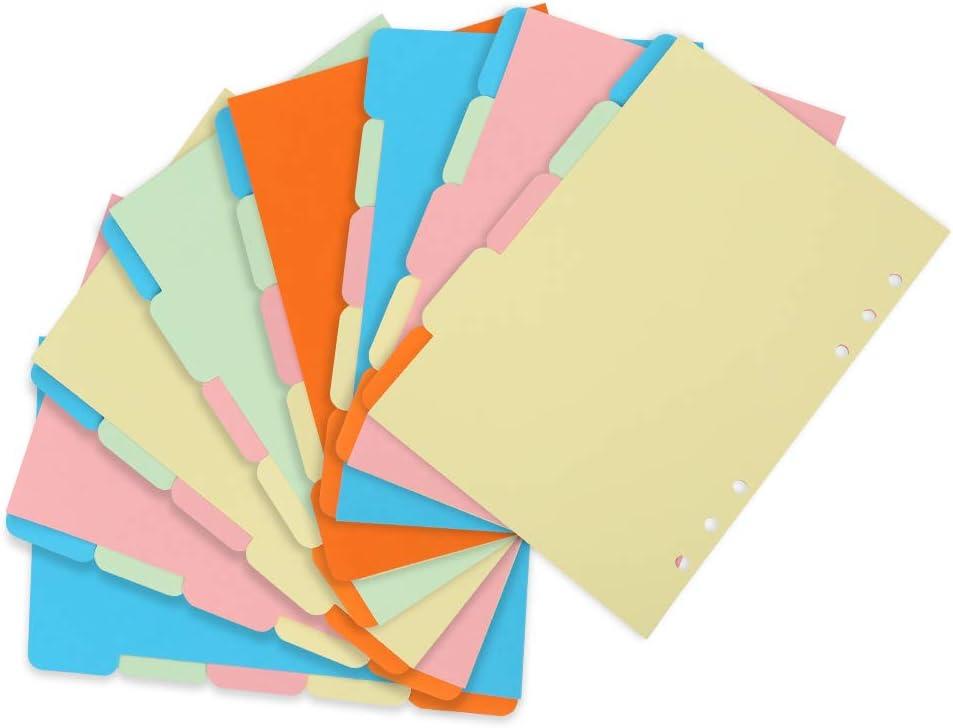 Papier-trennstreifen Ordner Trennbl/ätter redcherry 8 S/ätze Trennstreifen 40 Insgesamt Seite Register-trenner in 5 Farben f/ür Perfektes Trennen Der Din-a4 Ordner /& Akten